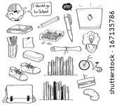 school doodle | Shutterstock .eps vector #167135786