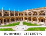 Courtyard Of The Mosteiro Dos...