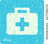 medical icons in the form of... | Shutterstock .eps vector #167138114