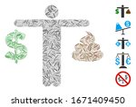 line mosaic based on person...   Shutterstock .eps vector #1671409450