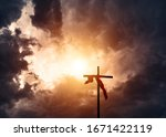 Christianity Cross And Stormy...