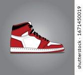 Sneaker Shoe . Consept. Flat...