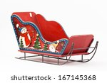 Red Toy Christmas Sleigh Santa...