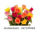 Bouquet Of Multi Colored Roses...