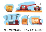 production of flour and bread... | Shutterstock .eps vector #1671516310