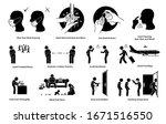 virus outbreak risks ... | Shutterstock .eps vector #1671516550