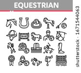 equestrian animal collection... | Shutterstock .eps vector #1671544063