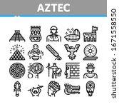 aztec civilization collection...   Shutterstock .eps vector #1671558550