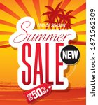 summer sale banner layout...   Shutterstock .eps vector #1671562309