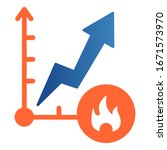 fuel price increase flat icon....   Shutterstock .eps vector #1671573970