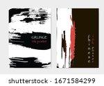 asian brochure cover. black... | Shutterstock .eps vector #1671584299
