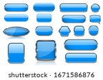 Blue Glass Buttons. Collection...