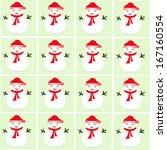 snowman seamless pattern   Shutterstock .eps vector #167160554
