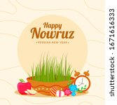 happy nowruz  persian new year... | Shutterstock .eps vector #1671616333