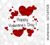 happy valentines day card with... | Shutterstock .eps vector #167165528
