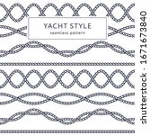 nautical rope seamless pattern. ... | Shutterstock .eps vector #1671673840