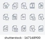 document icons | Shutterstock .eps vector #167168900