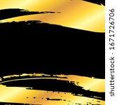 golden artistic grunge brush... | Shutterstock . vector #1671726706