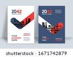 corporate book cover design... | Shutterstock .eps vector #1671742879