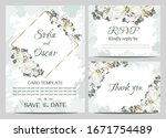 floral card for wedding... | Shutterstock .eps vector #1671754489