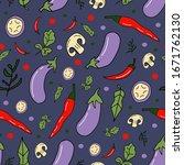 vegetables illustration ... | Shutterstock .eps vector #1671762130