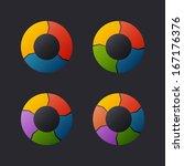 circular chart template set....   Shutterstock . vector #167176376