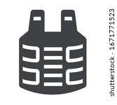 bulletproof jacket black icon... | Shutterstock .eps vector #1671771523