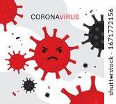 coronavirus cartoon icon vector ... | Shutterstock .eps vector #1671772156