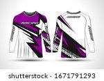 long sleeve t shirt sport...   Shutterstock .eps vector #1671791293