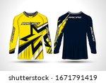 long sleeve t shirt sport...   Shutterstock .eps vector #1671791419