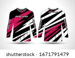 long sleeve t shirt sport... | Shutterstock .eps vector #1671791479