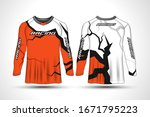 long sleeve t shirt sport...   Shutterstock .eps vector #1671795223