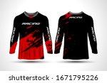 long sleeve t shirt sport...   Shutterstock .eps vector #1671795226
