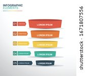 business infographics with...   Shutterstock .eps vector #1671807556
