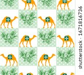 vector seamless pattern with... | Shutterstock .eps vector #1671816736