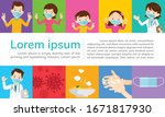 doctor and family wear a... | Shutterstock .eps vector #1671817930
