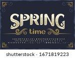 vintage decorative font. good...   Shutterstock .eps vector #1671819223