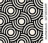 vector seamless pattern. modern ... | Shutterstock .eps vector #1671831049