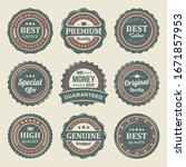 retro vintage seal premium... | Shutterstock .eps vector #1671857953