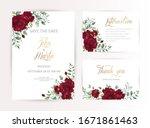 wedding invitation set of card... | Shutterstock .eps vector #1671861463