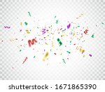 confetti color explosion on... | Shutterstock .eps vector #1671865390