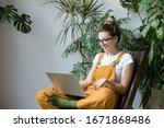 Woman Gardener In Glasses...
