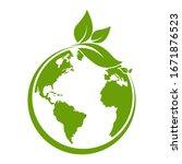 green earth  green leaf art....   Shutterstock .eps vector #1671876523
