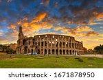 The Colosseum In Rome...