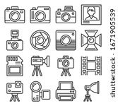 camera and photography... | Shutterstock .eps vector #1671905539