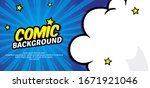Pop Art Comic Background With...