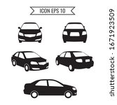car icon set isolated on the... | Shutterstock .eps vector #1671923509