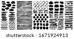 dry paint stains brush stroke... | Shutterstock .eps vector #1671924913