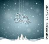 christmas greeting card. merry... | Shutterstock .eps vector #167192984