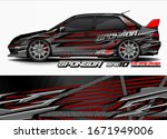 vehicle graphic kit vector.... | Shutterstock .eps vector #1671949006